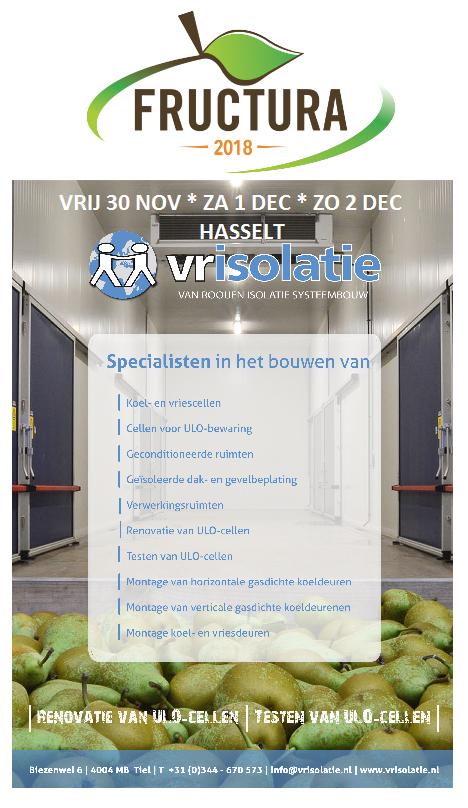 U vindt VRIsolatie van 30 november t/m 2 december op de Fructura in Hasselt!